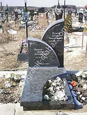 подвійні гранітні пам'ятники