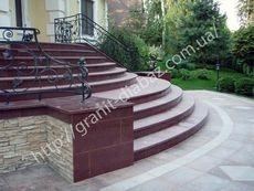 гранітні сходи шліфовані